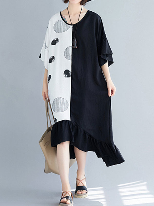 One More Polka Thing Flowy Midi Dress