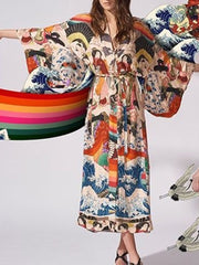 Caught In The Wind Kimono Robe Gown