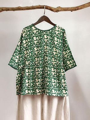 Toile Floral Tunic Top