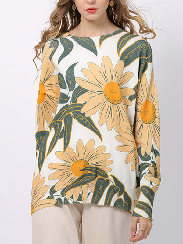 Evening Light Blooming Flower T-Shirt