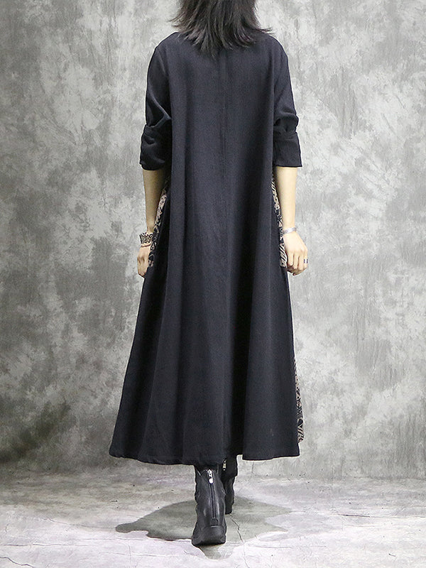 Sheerrie Stand Neck Vintage Shirt Dress