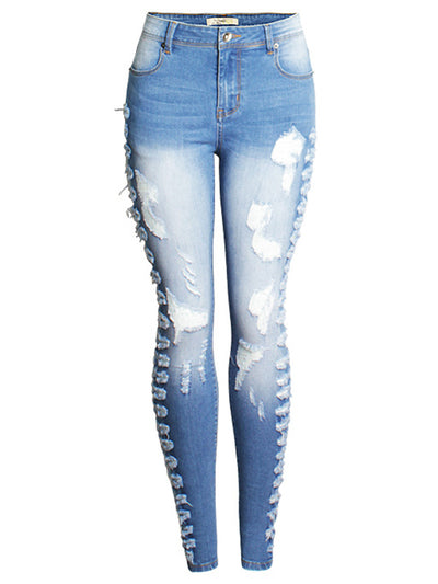 Side Ripped Slimfit Jeans