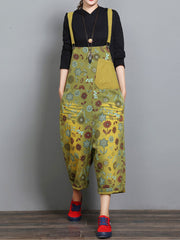 Happier Floral Overall Dungarees