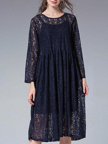 Classical Orchestra Smock Lace Dress