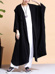 Batwing-sleeves Loose Cape Coat
