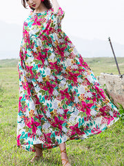 Glad To See You Floral Print Cotton Maxi Dress