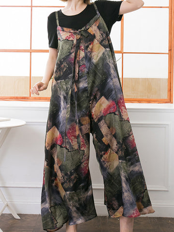 Printy Patched Jumpsuit
