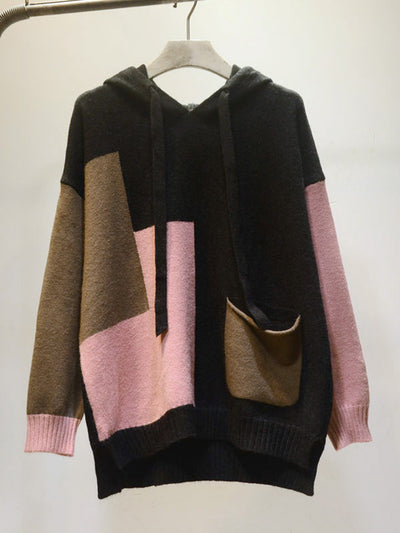Color Block Full-Sleeve Cotton Sweater