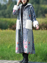 Thickened Coat with Fluffy Pocket