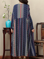 Being Humble Ethnic Print Smock Dress
