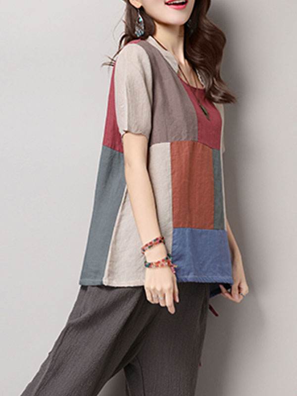 Needed Leisure Cotton & Linen Tunic T-Shirt Top