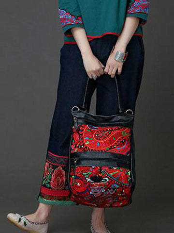 Bohemian Embroidered Shoulder Bag