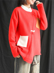 Naughty Knot Color Contrast Sweater Top