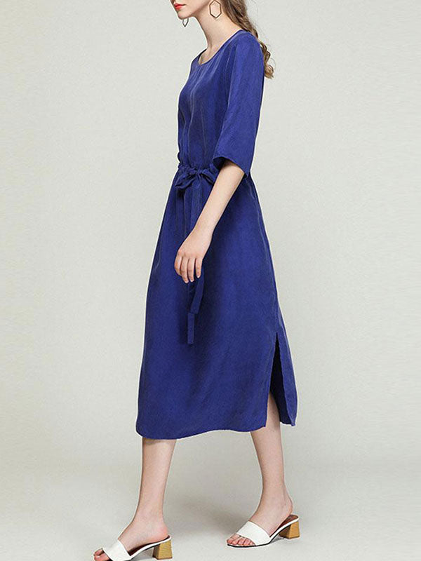 Twist And Take Midi Dress
