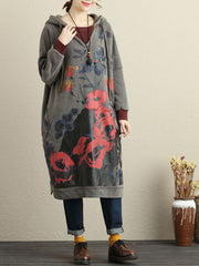 Pick Love Hooded Sweater Dress