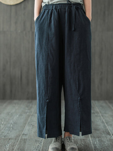 Bethany Casual Front Slit Pants