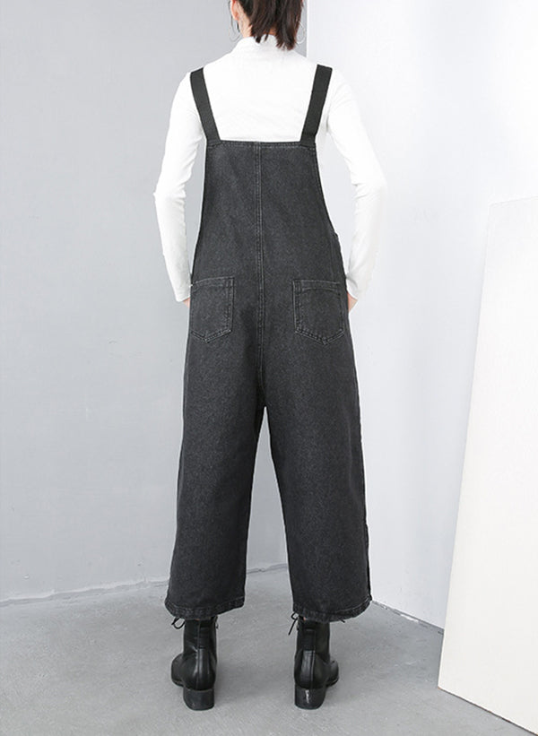 Lilly Denim Cotton Overall Dungarees with Pockets