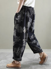 Jump For Joy Autumn Print Denim Trouser Pants