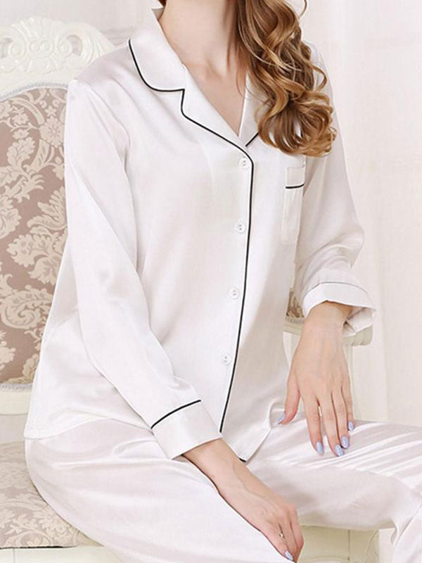 Mulberry silk Two Piece Night Suit