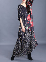 Rosemary and You Floral Print Maxi Dress
