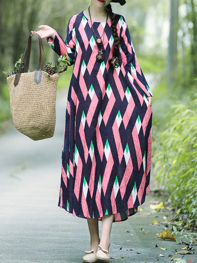 Wrapped Chain A-Line Dress