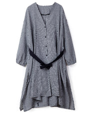 Feelings of Freedom Lattice Belted Shirt Dress