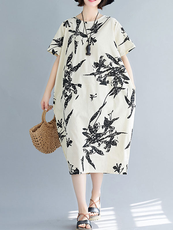 Whimsical Wildflowers Midi Dress