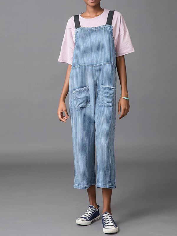British Stripes Overall Dungarees
