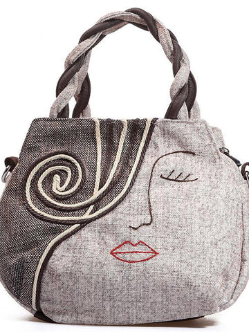 Annoying Lady Face Vintage Handbag