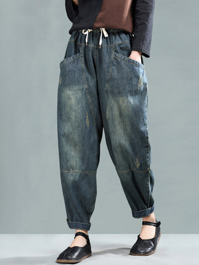 Sheena Vintage Faded Baggy Gored Pants
