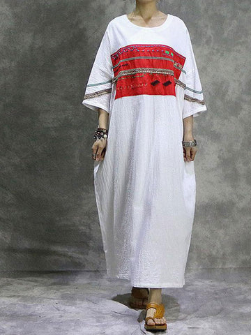 Ethnic Embroidered H-Line Dress
