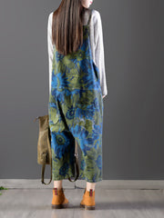 Midnight Floral Overall Dungarees