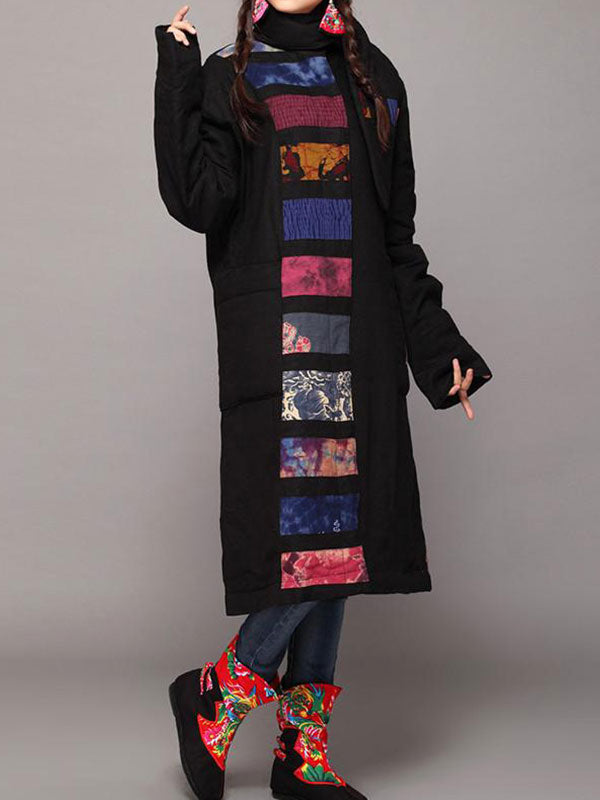 Patchwork High Quality Linen Retro Coat