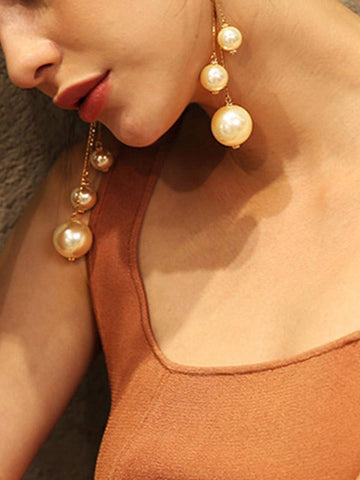 Pearl Ball Drops Earrings