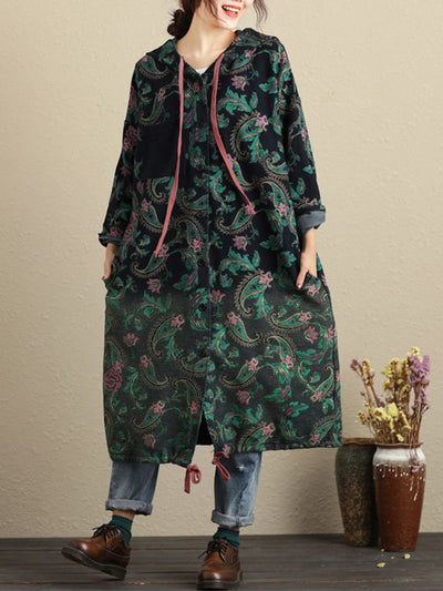 Fighting Floral Hooded Coat