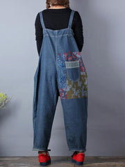 Living Happily Ripped Drawstring Overall Dungarees