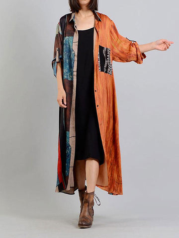 Panama Wave cardigan shirt Dress