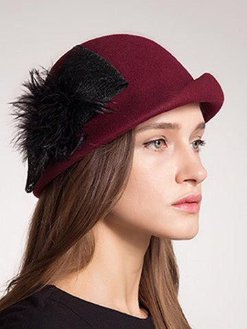 Wool Felt Cloche Hat