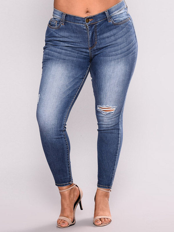 Fitted High Waist Jeans