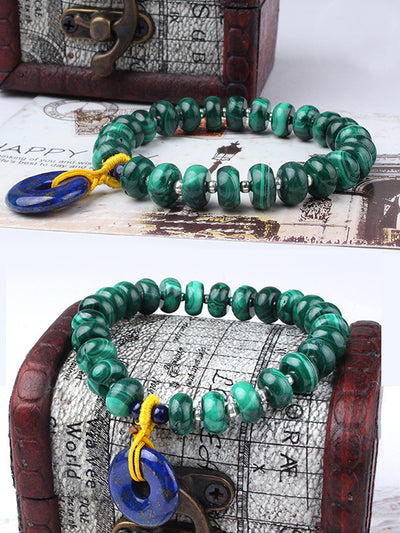 Katie Ethnic Buddha Crystal Beads Bracelet with Spacers