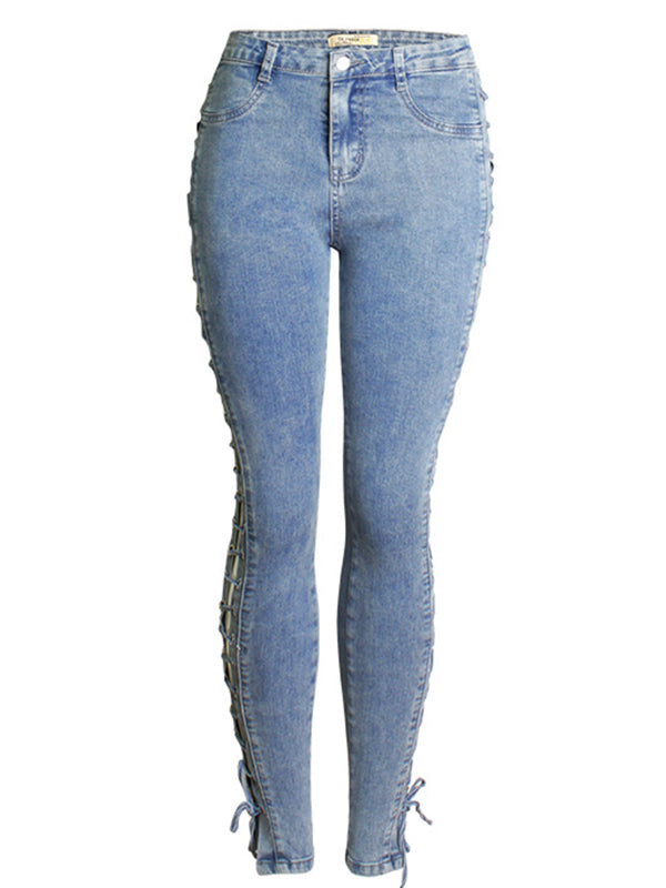 Laced Skinny Jeans
