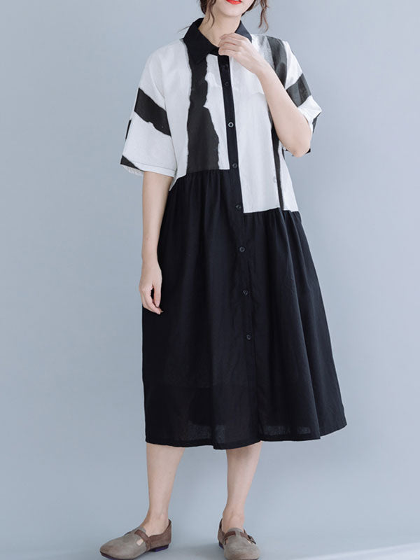 Peace and Lovely À-Line Shirt Dress