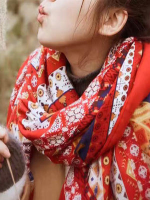 Ethnic Print Cotton Scarf