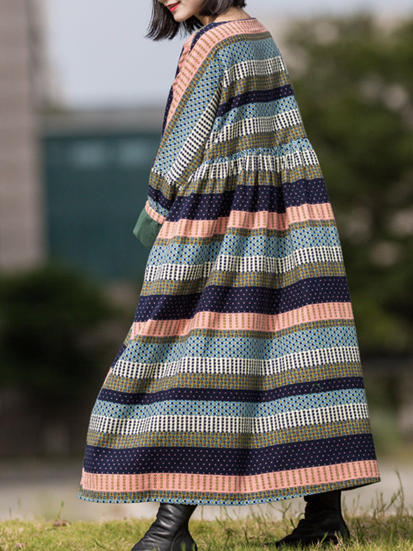 Pattern Fiesta Smock Dress With Color Swatches
