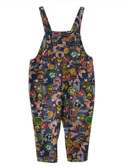 Scripted Logo Overall Dungarees