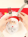 Cutlery Bag with Santa & Deer Stitches