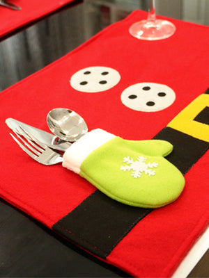 Christmas Fork & Knife Cushion with Arrow