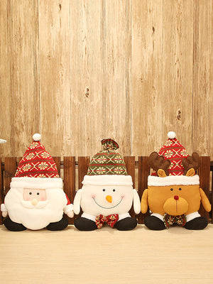 Christmas Doll Bolster with Snowman Theme