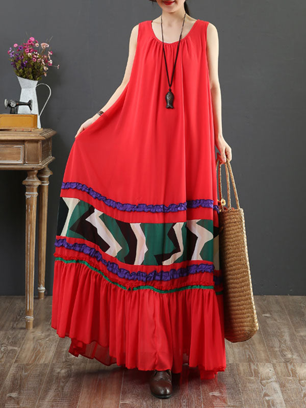 Feeling Serene Sleeveless Chiffon Maxi Dress