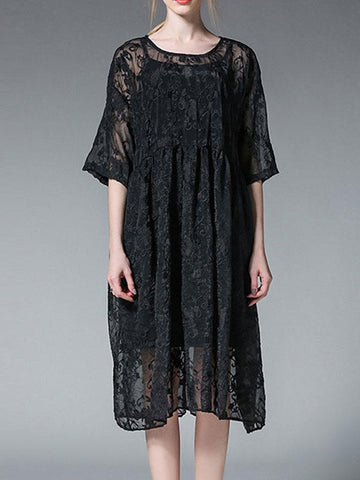 Streamers Lace Smock Dress